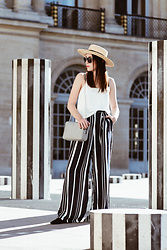 Shiny Syl -  - Striped pants