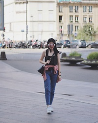 Beatrix Rhea - Bershka Cigarette Jeans, Fendi By The Way Bag - A Day in Paris