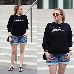 Ania K. [www.overdivity.com] - Sweater, Shorts, Necklace - #PARSme