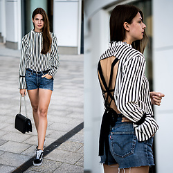 Jacky - Zara Shirt, Levi's® Shorts, Vans Sneakers -  A striped shirt with that certain something