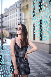 EmerJa Design - Zara Jumpsuit, Zerouv Cat Eye Sunglasses - JUmpsuit and polka dots