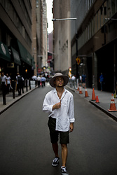Kevin Elezaj - Vans Sneakers, Dickies Shorts, Gap Shirt, Brixton Hat - OOTD - The Hat