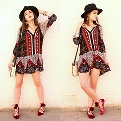 Lexi L - Free People Portobello Road Dress, Steve Madden Lace Up Flats, Claudine N. En Reve Necklace - Day By Day