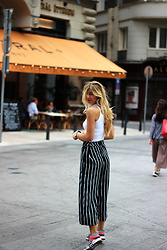 Ecaterina Rusu - Asos Top, H&M Culottes, Adidas Sneakers - STRIPED FEVER