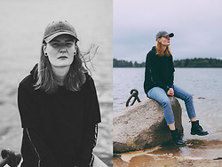 Frida Sjöberg - Dr. Martens Boots, Cheap Monday Jeans, Cheap Monday Shirt, H&M Cap - Northern