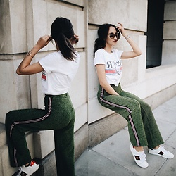 Gabriele Gzimailaite - H&M Pants, Topshop Tee, Gucci Trainers - MOST WANTED