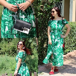 Rebel Takipte - Lovelywholesale Green Dress, Lovelywholesale Black And White Bag - Happy Weekend!