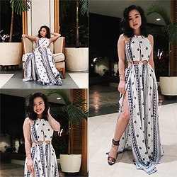 Divine Tio - Selfie Leslie Maxi Dress, Nine West Heels - Top of The I