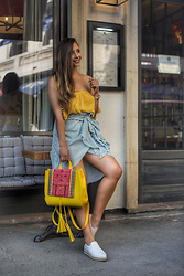 Manuella Lupascu - Dkny Espadrilles, Zaful Crop Top, Zaful Striped Skirt - Good Morning Sunshine