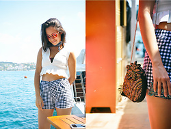 Linda Pavlovic - Zara, River Island Ruffles, Zara Gangnam Scarve, Ray Ban Round Sunglasses - Yachting on the Bosphorus