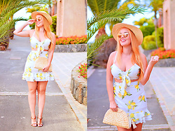 Nery Hdez - Lovelywholesale Two Pieces, Silhouette Sunglasses - Limoncello