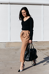 Shann V - Forcast Levina, Forcast Jade Culottes, Minskat Copenhagen Mira, The Mode Collective Pointed Toe - Brown Culottes