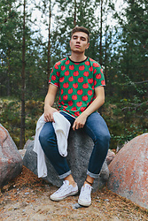 Andreas Sundbom - Belle Boy T Shirt, Tiger Of Sweden Jeans, Converse Sneakers - Apple