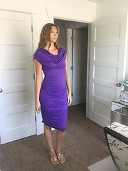 Cindy Batchelor - Amazon Beautiful Purple Ruched Party Dress - Beautiful Purple Ruched Party Dress