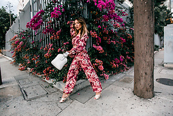 Jessi Malay - Zara Floral Set, Parisa Wang Crossbody Bag, Tony Bianco Nude Satin Heel - Floral Envy