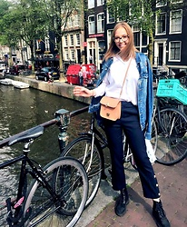 Karina Bogdan - Zara Jacket, Massimo Dutti Shirt, Mango Bag, Zara Pants, Musette Boots, Furla Glasses, Michael Kors Watch - Amsterdam Escape.