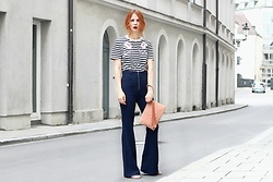 Katharina K. -  - Striped Shirt and Flared Pants