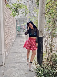 Carla M. Cabrera Aguayo - Adidas Adiddas Skirt Pharrel Collection, Candystore Fishnet, Adidas Adiddas Tubular - Dangeorus
