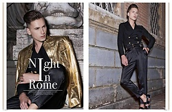 Łukasz Omiotek - Balmain Shirt, Designed By Myself Jacket, Designed By Myself Trousers, Cos Shoes - NIGHT IN ROME PUBLICATION PROMO MAGAZINE MARCH 2017