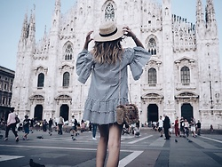 Gabriele Gzimailaite - Zara Dress - MILAN BREAK