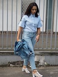 Lauren Francine Campbell - Zara, Urban Outfitters Bdg, Romwe, Missy Empire - Double Denim & The Lace Up Shirt