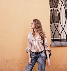 Alicja Szczepanska - Shein Stripe Tunic, Zara Boyfriend Jeans - BEFORE THE ADVENTURE