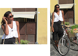 PAMELA - Dsquared2 Sunglasses, Zara Polka Dots Top, H&M Black Culottes - Polka Dots