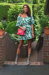 Isabella Pozzi - Rosegal Floral Dress, Zara Floral Boots, Saint Laurent Betty Bag - Rosegal Floral dress