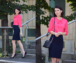 Daisyline . - Michael Kors Bag, Greenpoint Skirt, Greenpoint Shirt - Business look with touch of color / www.daisyline.pl