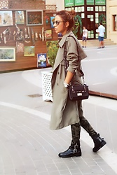 Aylar - Pimkie Trench, Pimkie Bag, Pimkie Boots - Autumn look