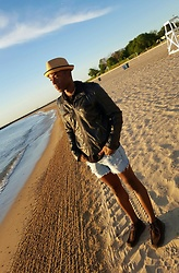 Thomas G - Xhlilaration Faux Leather Bomber, American Eagle Outfitters Cutoff Distressed Denim, Skechers On The Go, David And Young Stingy Brim Fedora, Osterman Beach: Chicago Illinois, Author At Scripted Sweetz - At the beach, life is different...