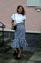 Isabella Pozzi - Gamiss Tartan Pencil Skirt - Gamiss Pencil Skirt & Basic Tee