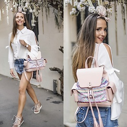 Manuella Lupascu - Vipshop Shirt, Andra Oprea Backpack, Giuseppe Zanotti Shoes - Pink for Happy Days