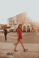 Tonya S. - Faithfull Playsuit, Gladiator Sandals - Venice Glow