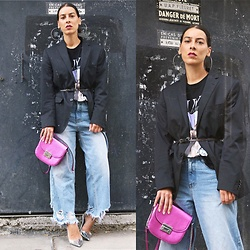 Alexandra DAP - Hugo Boss Vest, Missguided Jean, New Look Bag, Royaltees T Shirt, Zara Heels - #oversize