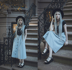 Anya Anti - Mango Pinafore Skirt, Forever 21 Platform Sandals - Brooklyn baby