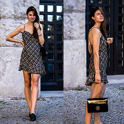 Jacky - Zara Dress, Gucci Bag - Asymmetric Dress