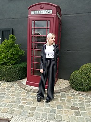 Emily Van Snick - Pull And Bear Suit, Zara T Shirt - Suited & Booted