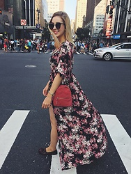 Matylda - Francesca's Romper, Zara Bag - Just walking around New York City....