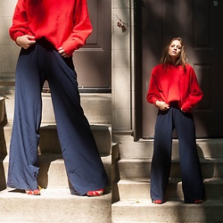 Alexandria Deanne - H&M Sweater, Zara Pants, Zara Heels - Living in Color