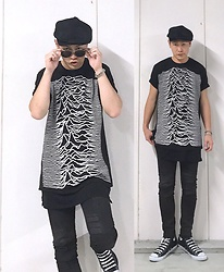 ★masaki★ - Joy Division Unknown Pleasuer, Neuwdenim Iggy, Converse Allstar Hi - UNKNOWN PLEASUER