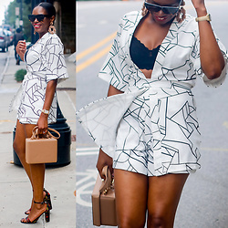 Monica Awe-Etuk -  - AWED BY MONICA: BLACK AND WHITE FALL TRANSITION OUTFIT