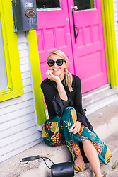 Susanne Bender - Cylinder Bag, Zaful Pineapple Skirt, Romwe Bell Sleeves Top, Sunglasses - From Summer to Fall!