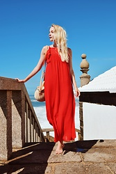 TripByTriplets B. - Zara Dress, Zara Bag - RED DRESS LOOK