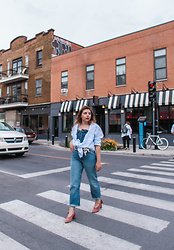 Manon S - Urban Outfitters Shirt, New Look Hack, Zara Jeans, Cos Shoes - Montreal style