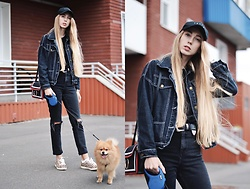 Lisa - Rosegal Jacket, Asos Jeans, Zara Shoes, Rosegal Bag, Zaful Cap - Black outfit