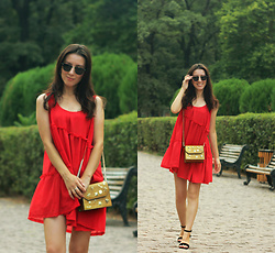 Elzara Muslimova - Zara Bag, Bershka Heels - Little red dress