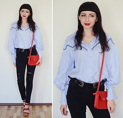 Kary Read♥ - Shirt, Belt, Bag - Zaful♥Shirt♥Lightinthebox♥Bag