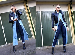 Agata Nika - Zara Biker Jacket, Faith Ankle Boots, Levi's® Skinny Jeans, Shein Long Shirt - Just go with a flow