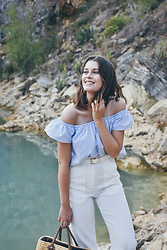 Liliana Rodrigues - Mango Pants, Zara Off Shoulder Blouse - BlueLagoon